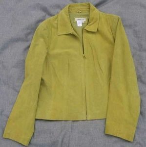 Lime Green Suede Jacket